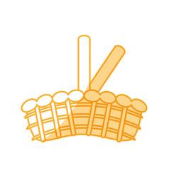 Wicker basket crate vector