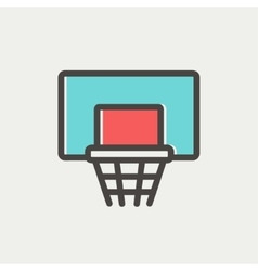 Basketball hoop thin line icon vector