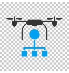Drone Distribution Icon vector image