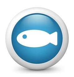 Fish glossy icon vector image vector image