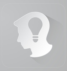 Head of person thinking idea vector image