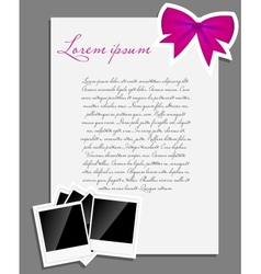 instant photo background blank page vector image vector image