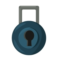security padlock isolated icon vector image