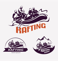 set of rafting templates for labels emblems vector image vector image