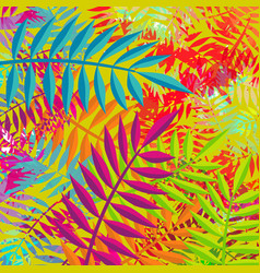 summer abstract plant leaf nature decoration art vector image