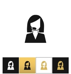 Support woman avatar icon vector image vector image