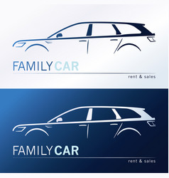 a minivan family car vector image
