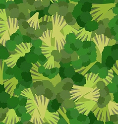 Broccoli pattern Seamless background with green vector image