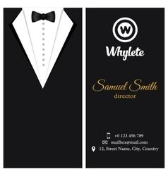 business card Black tuxado vector image