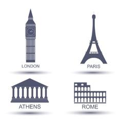 European capital vector image