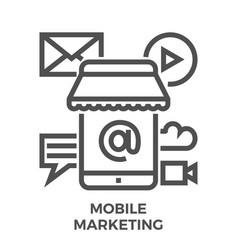 Mobile marketing icon vector