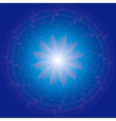 Radiating spiral star vector
