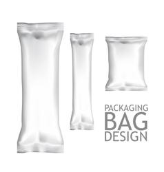 Set Blank Foil Food Snack Packages vector image