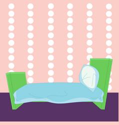 Children cartoon bed in vector image