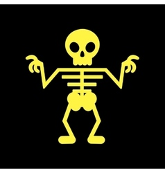 flat icon on background halloween skeleton vector image