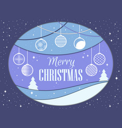 merry christmas papercut style christmas balls vector image vector image