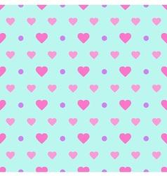 Polka Dot and Heart vector image