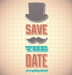 Vintage Save the Date Card vector image