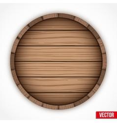 Wooden cask for alcohol drinks emblem vector image vector image