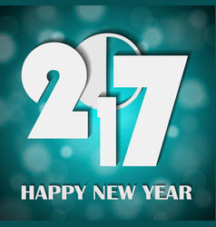 new year 2017 concept on shiny bright turquoise vector image vector image