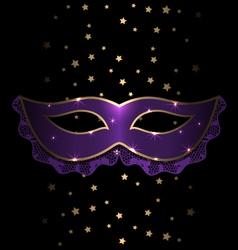 Violet carnival mask vector