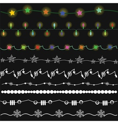 2001bright garlands vector image