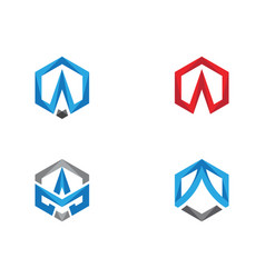 a logo hexagon icon vector image