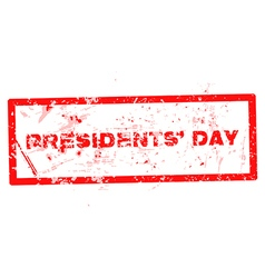 A rubber stamp for Presidents Day isolated vector