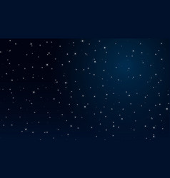 abctract night the starry sky vector image