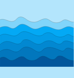 abstract blue waves background for designpaper vector image