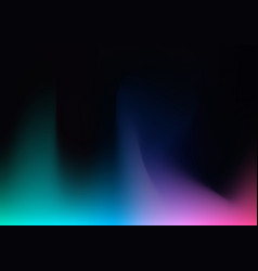 Abstract blurred gradient mesh on black vector