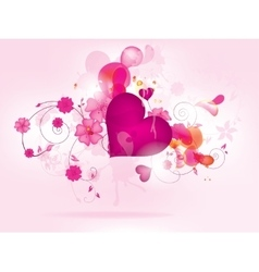 Abstract floral background for valentines day vector