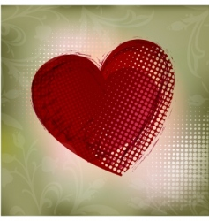 abstract red heart vector ill vector image
