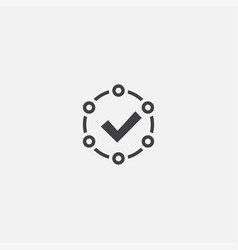 accepted base icon simple sign vector image