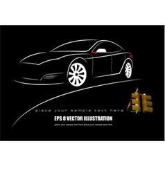 al 1027 car vector image