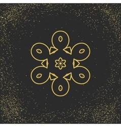 Asian mandala symbol vector image