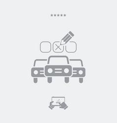 automotive options - minimal icon vector image