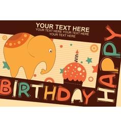 Baby elephant Birthday vector