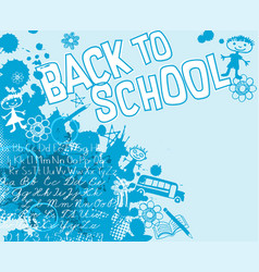 back to school with splatter childish doodles vector image