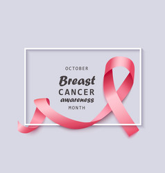 banner for october breast cancer awareness month vector image