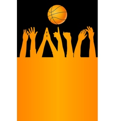 basketball card vector image