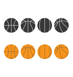 basketball icon isolated on background flat vector image