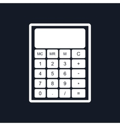 Calculator Isolated on Black Background vector