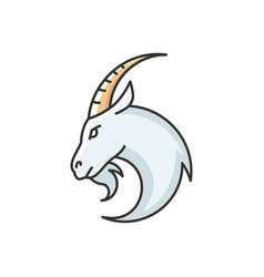 Capricorn zodiac sign rgb color icon vector