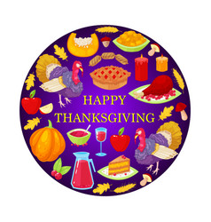 card t for thanksgiving day vector image