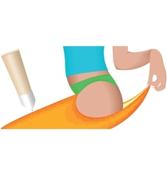 Cellulite - orange skin effect vector