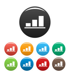chart icons set vector image