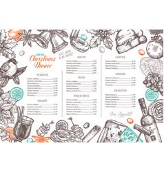 christmas happy holiday layout festive menu vector image