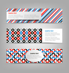 collection banners with abstract retro patterns vector image