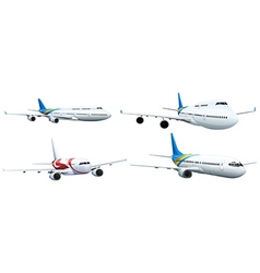 Commerical aircraft vector